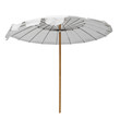 White beach umbrella