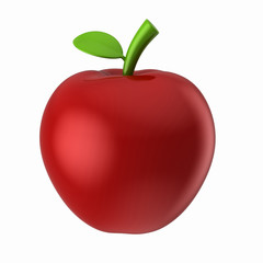 3d render of an apple