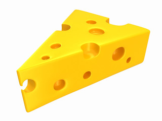 3d render of a cheese