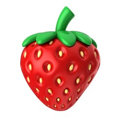 3d render of a strawberry fruit
