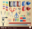 """Vector set: Collection item """"Back to School"""""""