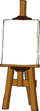 Cartoon easel