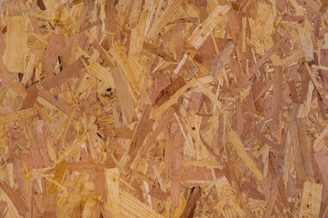 platen-pressed particle board