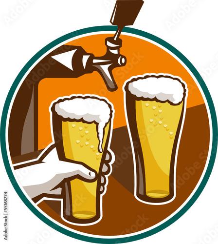 piwne-piwo-szklane-recznie-dotknij-retro