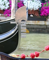 Tip of the famous romantic boat gondola in Venice 2