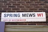Spring Mews Street Sign poster