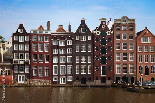 Deurstickers Kanaal Amsterdam, Netherlands