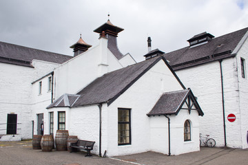 Scottish whisky distillery building