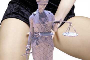 Illegal prostitution - with LAdy of Justice
