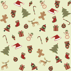 seamless merry christmas background