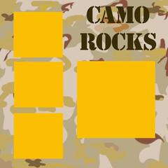 camo rocks frame