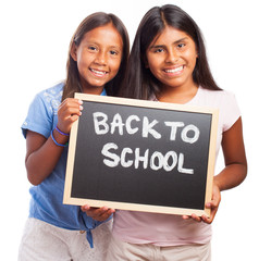 happy students girls to go back to school