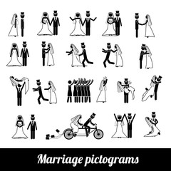 marriage pictograms
