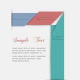 Minimalist style - paper background for design