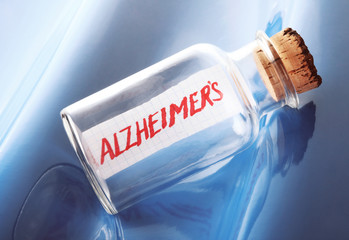 "A concept of a message in a bottle ""Alzheimer's"""