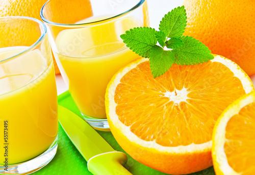 Fototapety, obrazy : Orangensaft