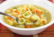Chicken broth soup with vegetables