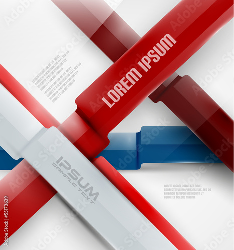 Abstract business modern ribbon background
