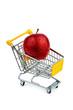 Apfel in Einkaufswagen
