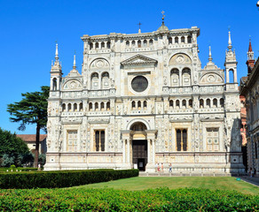 Certosa di Pavia, landmark medieval monastery in Pavia, Italy