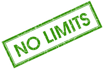 no limits green square stamp