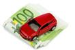 Auto auf Euroscheinen