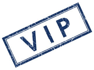vip blue square stamp