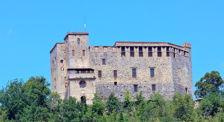 "the castle ""dal verme"" zavattarello, pavia, italy"