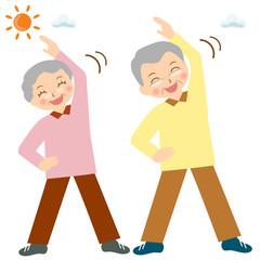 お年寄り シニア 体操 運動 健康