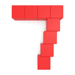 number 7 cubic red