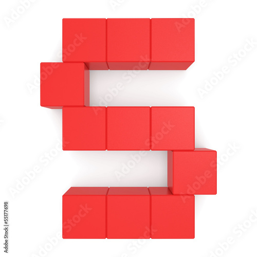 letter S cubic red