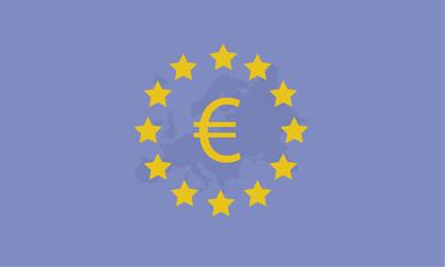 European Stars with Euro Sign