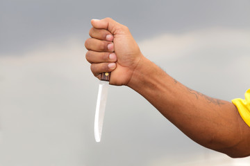 Knife in a hand