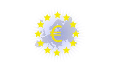 Euro Stars and Euro Sign