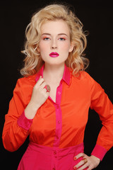 Orange and fuchsia