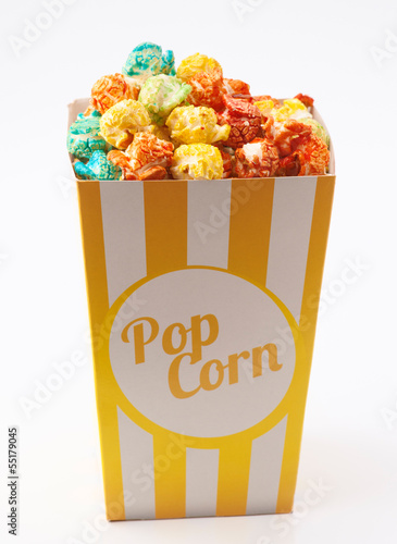 candy colored popcorn