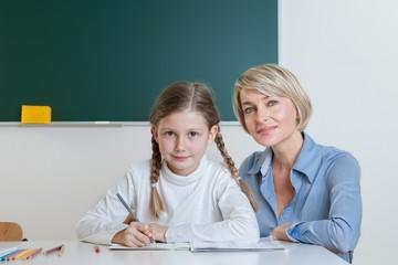Lehrerin und Schülerin