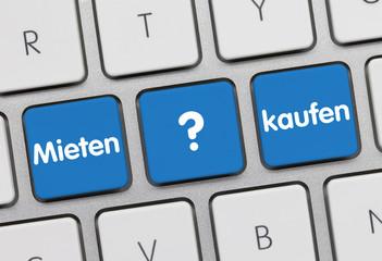 Mieten oder kaufen? Tastatur
