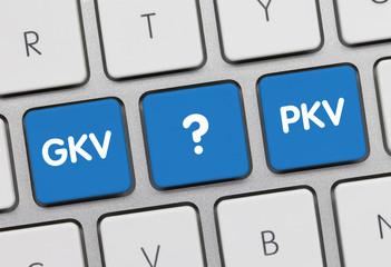 Gesetzlich oder privat versichert? Tastatur