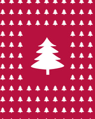 Christmas Tree Pattern Red BG