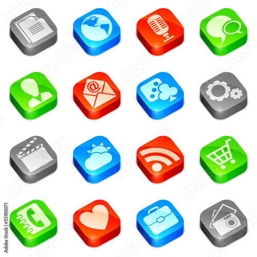 Media icons.