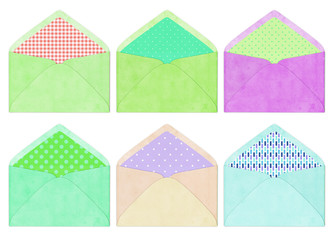 colorful envelope, vintage style