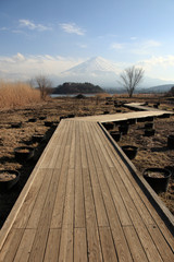 View of Mount Fuji from Kawaguchiko lake