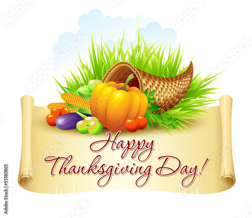 Thanksgiving Background. Vector Illustration