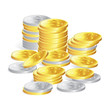 silver & gold coins