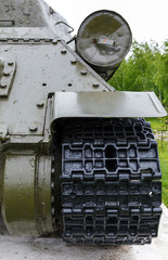 exhaust pipe of the tank t-34
