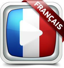 Français TV buton