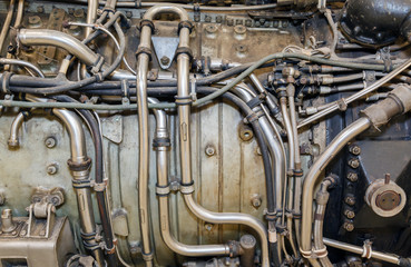 jet engine close-up