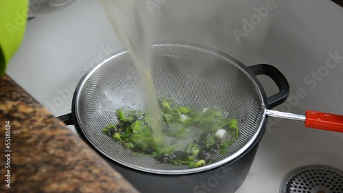 Strain the broth through a sieve