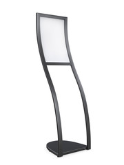 Curved Display Advertising Stand